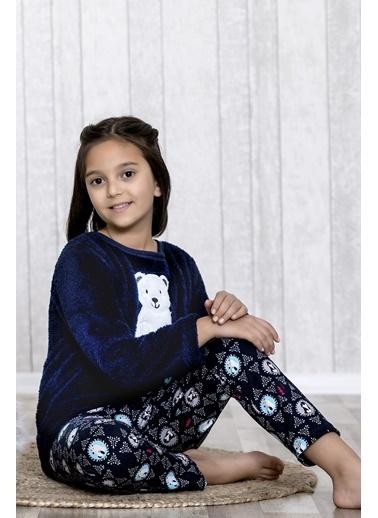 Lingabooms Kutup Ayılı 2'li Çocuk Pijama Takım  Lacivert